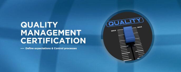 Obtention de la certification du Quality Management System